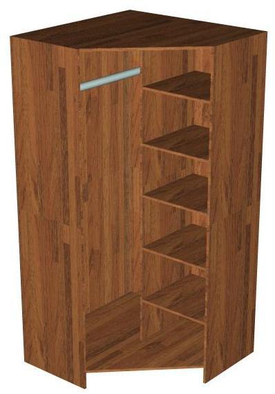 Угловой шкаф со скошенной